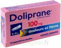 DOLIPRANE 100 mg Suppositoires sécables 2Plq/5 (10) à GRENOBLE
