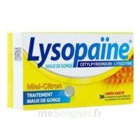 LYSOPAÏNE MAUX DE GORGE CETYLPYRIDINIUM LYSOZYME MIEL CITRON SANS SUCRE, comprimé à sucer édulcoré au sorbitol et à la saccharine à GRENOBLE