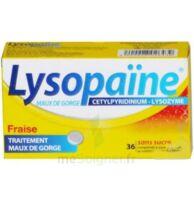 LYSOPAÏNE MAUX DE GORGE CETYLPYRIDINIUM LYSOZYME FRAISE SANS SUCRE, comprimé à sucer édulcoré au sorbitol et à la saccharine à GRENOBLE