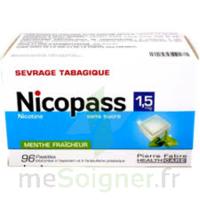 Nicopass 1,5 mg Pastille sans sucre menthe fraîcheur Plq/96 à GRENOBLE