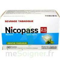 Nicopass 2,5 mg Pastille menthe fraîcheur sans sucre Plq/96 à GRENOBLE