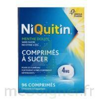 NIQUITIN MENTHE DOUCE 4 mg SANS SUCRE, comprimé à sucer édulcoré à l'aspartam
