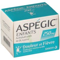 ASPEGIC ENFANTS 250, poudre pour solution buvable en sachet-dose à GRENOBLE