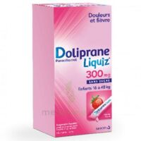 Dolipraneliquiz 300 mg Suspension buvable en sachet sans sucre édulcorée au maltitol liquide et au sorbitol B/12 à GRENOBLE
