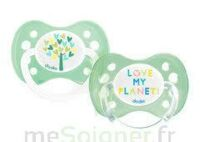 Dodie Duo - Sucette anatomique silicone 0-6mois - Love my planet B/2 à GRENOBLE